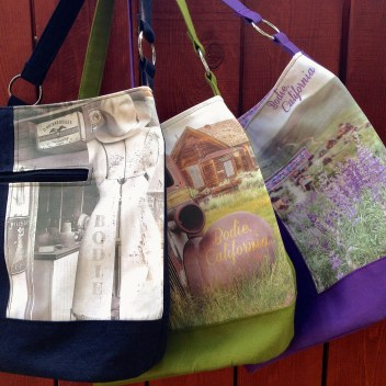 Bodie handcrafted bucket bags available in a variety of photos and colors, handmade by Wild Onion Creations